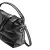 Borsa di pelle in stile Hobo bata, nero, 964-6121 - 15