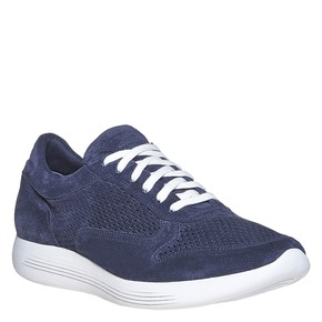 Sneakers in pelle da uomo flexible, blu, 843-9703 - 13