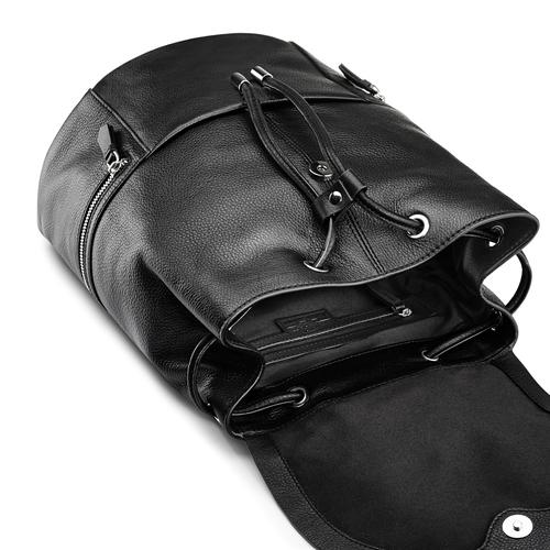 Zainetto in pelle bata, nero, 964-6259 - 17