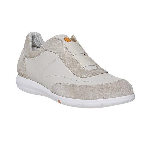 Sneakers da donna in pelle flexible, giallo, 514-8271 - 13