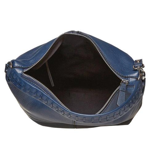Borsetta di pelle in stile Hobo bata, blu, 964-9121 - 15
