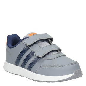 Sneakers da bambino con chiusure a velcro adidas, grigio, 109-2163 - 13