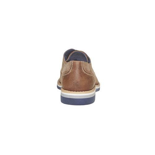 Scarpe basse in pelle con suola appariscente bata, marrone, 823-2258 - 17