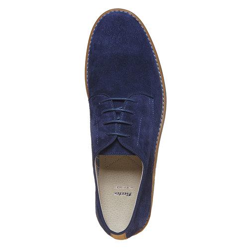 Scarpe basse di pelle da uomo bata, blu, 823-9267 - 19