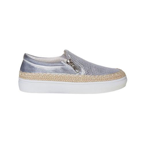 Slip-on argentate da ragazza mini-b, grigio, 329-2247 - 15