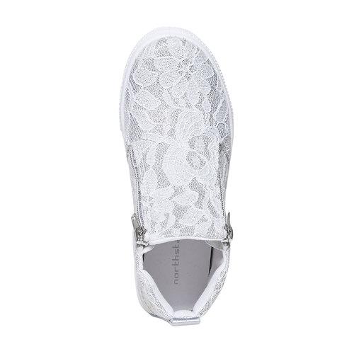 Scarpe da bambina alla caviglia, bianco, 329-1277 - 19