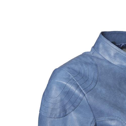 Giacca da donna blu con trafori bata, viola, 971-9113 - 16