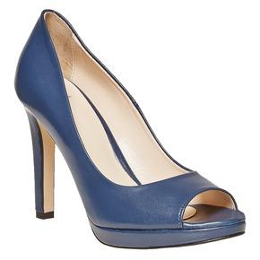Décolleté blu con punta aperta bata, blu, 724-9721 - 13