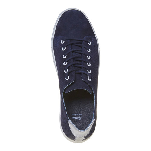 Sneakers in pelle informali bata, blu, 843-9227 - 19