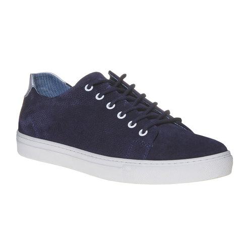 Sneakers in pelle informali bata, blu, 843-9227 - 13
