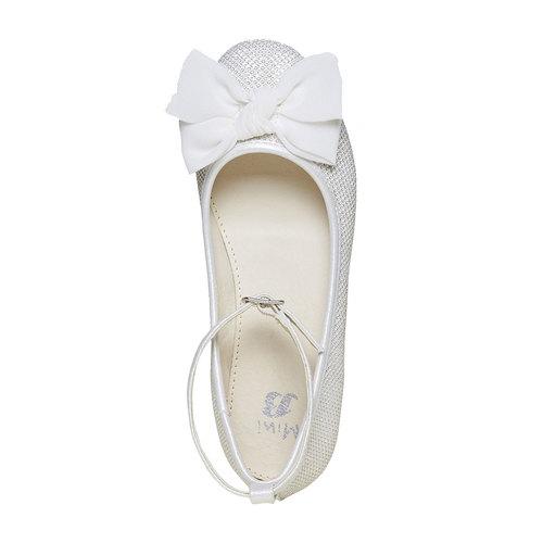 Ballerine chiare con fiocco mini-b, bianco, 329-1241 - 19