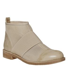 Scarpe da donna alla caviglia bata, beige, 591-8550 - 13