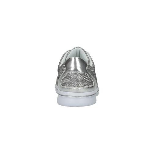 Sneakers argentate da bambina mini-b, grigio, 329-2264 - 17