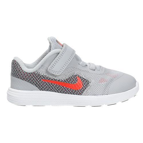 Sneakers da bambino con chiusura a velcro nike, grigio, 109-2149 - 15