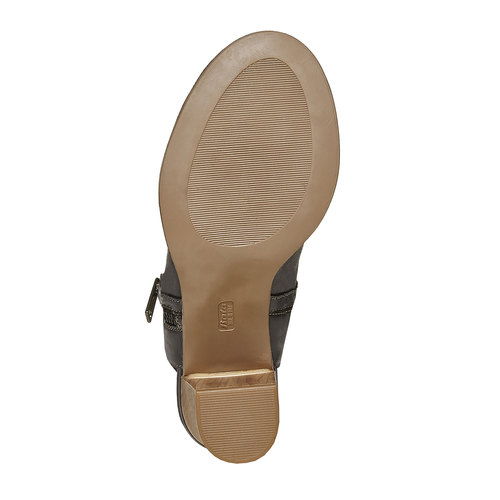 Scarpe in pelle da donna con tacco bata, nero, 724-6530 - 26