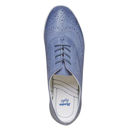 Scarpe basse blu in pelle bata, blu, 526-9567 - 19