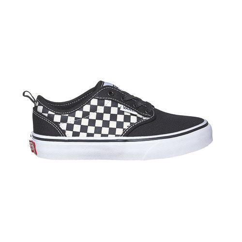 Sneakers da bambino con motivo a scacchi vans, nero, 489-6102 - 15