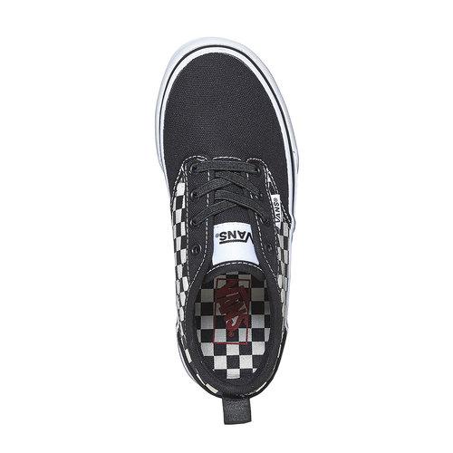 Sneakers da bambino con motivo a scacchi vans, nero, 489-6102 - 19