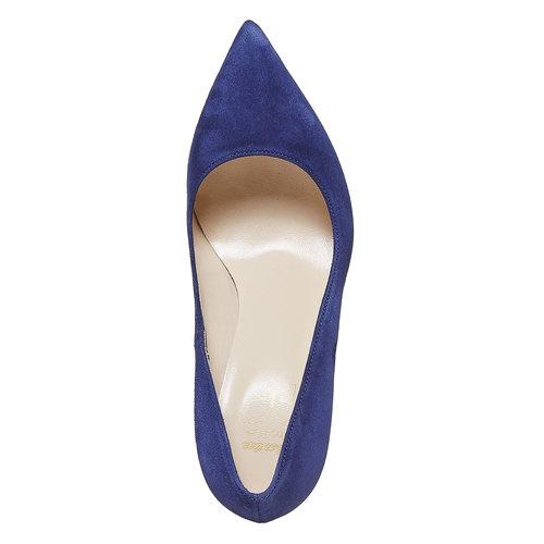décolleté con tacco a spillo insolia, blu, 723-9867 - 19