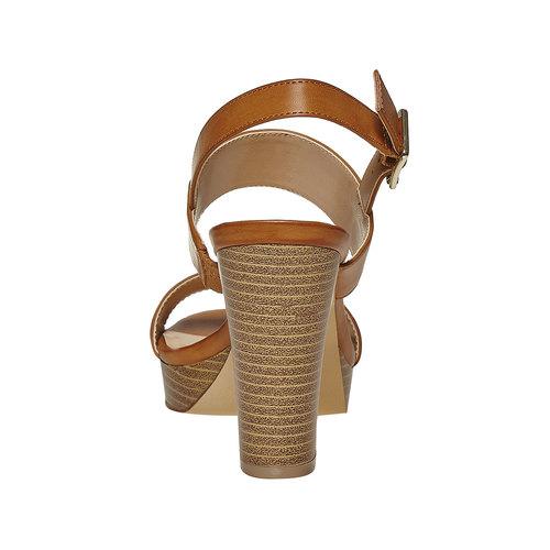 Sandali da donna con plateau insolia, marrone, 761-4727 - 17