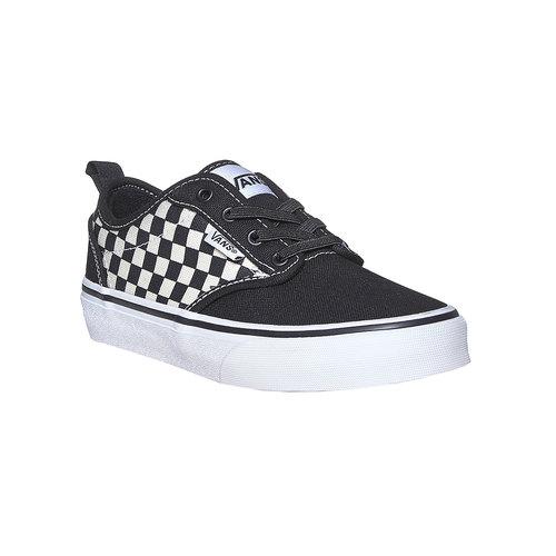 Sneakers da bambino con motivo a scacchi vans, nero, 489-6102 - 13