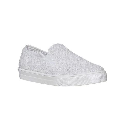 Sneakers Plimsoll da donna con pizzo bata, bianco, 549-1132 - 13