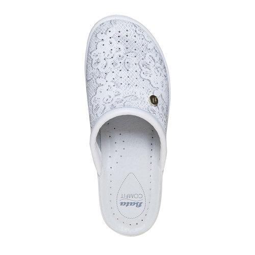 Pantofole di pelle con motivo, grigio, 574-2291 - 19