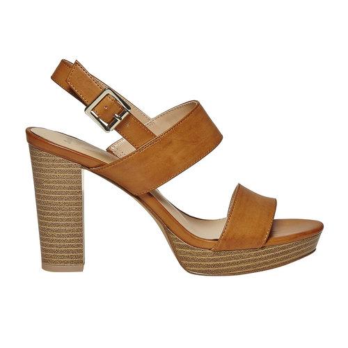 Sandali da donna con plateau insolia, marrone, 761-4727 - 15