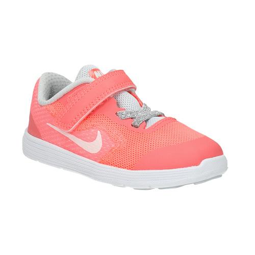 Sneakers rosa da ragazza nike, rosso, 109-5549 - 13