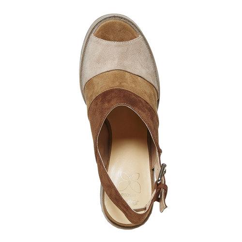 Sandali da donna con tacco stabile, marrone, 769-3252 - 19