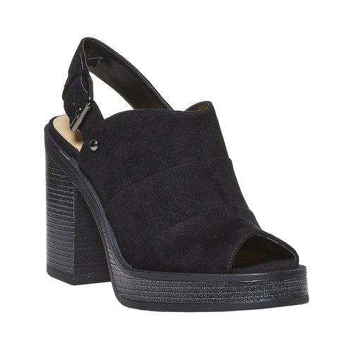 Sandali neri da donna, nero, 769-6252 - 13