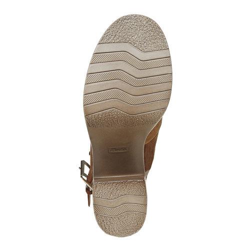 Sandali da donna con tacco stabile, marrone, 769-3252 - 26