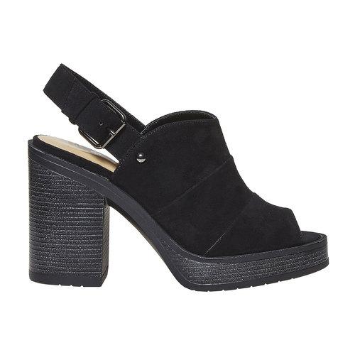 Sandali neri da donna, nero, 769-6252 - 15