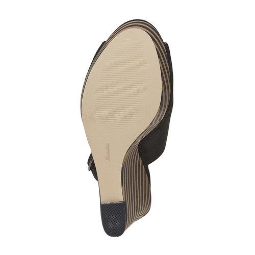 Sandali con zeppa insolia, nero, 769-6563 - 26