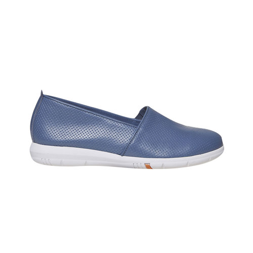 Slip-on in pelle da donna flexible, 514-0270 - 15