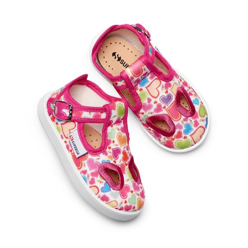 Sandali stampati Superga superga, rosa, 169-5132 - 26