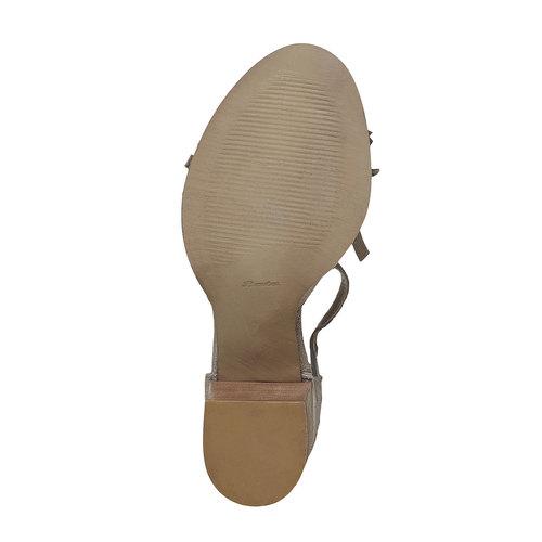 Sandali da donna con frange bata, grigio, 763-8519 - 26