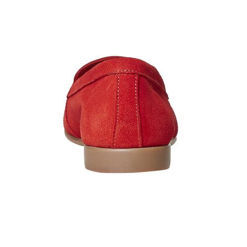 Mocassini in pelle da donna con lacci flexible, rosso, 516-5276 - 17