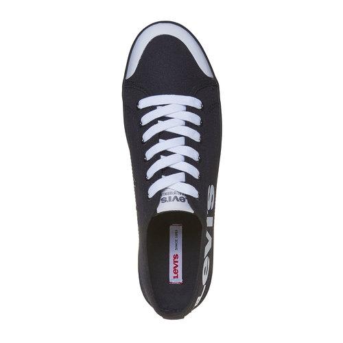 Sneakers da uomo con scritta levis, nero, 849-6589 - 19