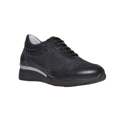 Sneakers da donna in pelle flexible, nero, 529-6586 - 13