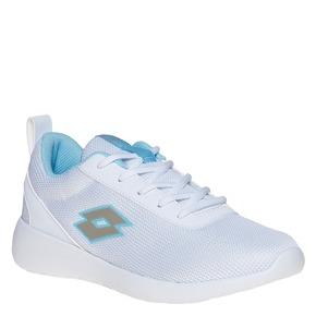 Sneakers da donna con dettagli blu lotto, bianco, 509-1952 - 13