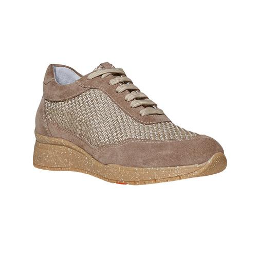 Sneakers da donna in pelle flexible, beige, 529-8587 - 13