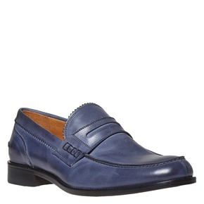 Penny Loafer di pelle bata-the-shoemaker, viola, 814-9160 - 13