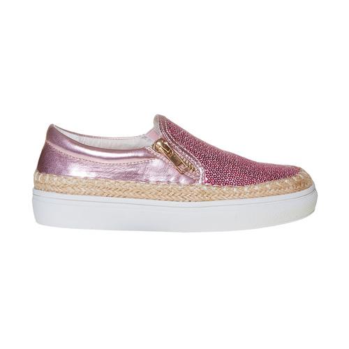 Slip-on rosa da bambina con paillettes mini-b, rosso, 329-5247 - 15