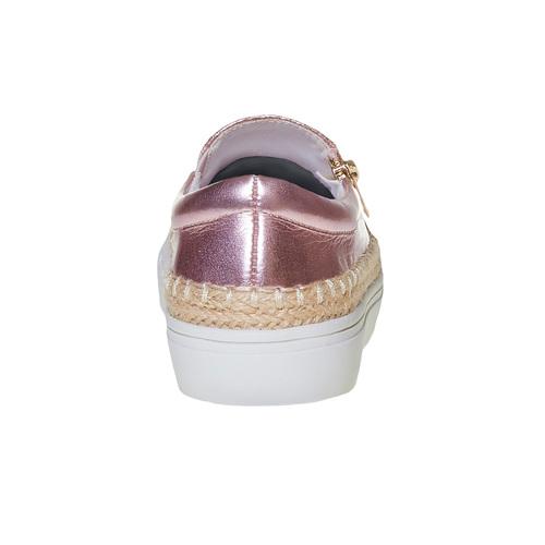 Slip-on rosa da bambina con paillettes mini-b, rosso, 329-5247 - 17