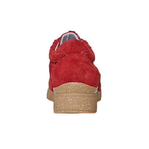 Sneakers rosse in pelle flexible, rosso, 529-5586 - 17