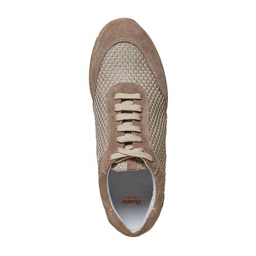 Sneakers da donna in pelle flexible, beige, 529-8587 - 19
