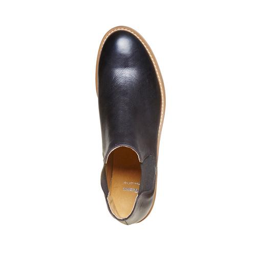 Scarpe in pelle alla caviglia bata, nero, 594-6432 - 19