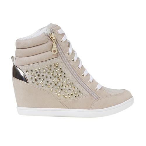 Sneakers con tacco a zeppa north-star, bianco, 729-1670 - 15