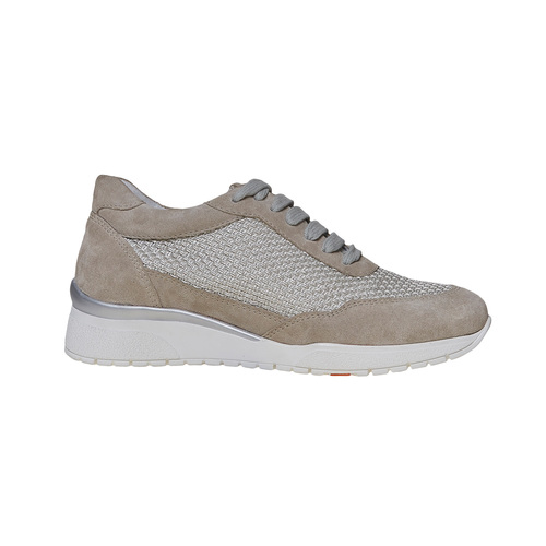 Sneakers in pelle da donna flexible, grigio, 529-2586 - 15